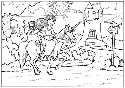 Unicorn Kleurplaat Volwassenen Mario Baert Illustration Coloring Plates